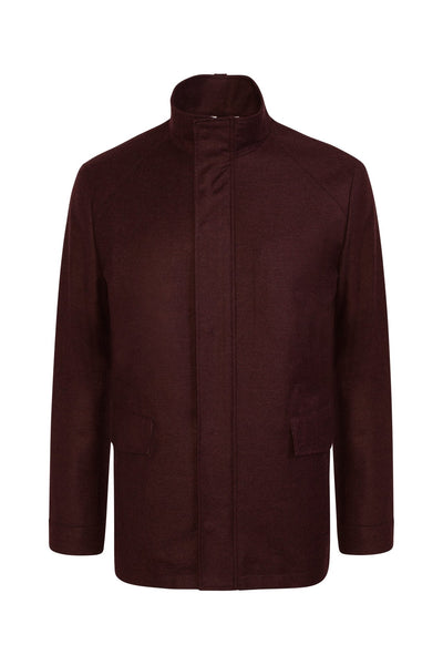 Burgundy McGuire Loro Piana Storm System Raincoat - Cardinal of Canada-US