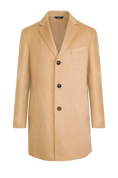 Camel Saint-Paul Cashmere Wool Heritage Overcoat - Cardinal of Canada-US