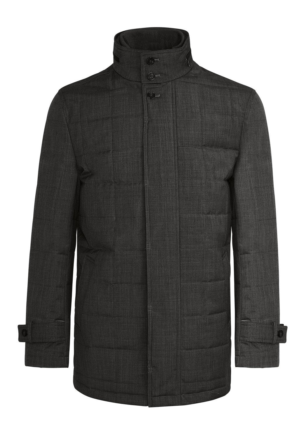 Charcoal Belmont Technical Wool Coat - Cardinal of Canada-US