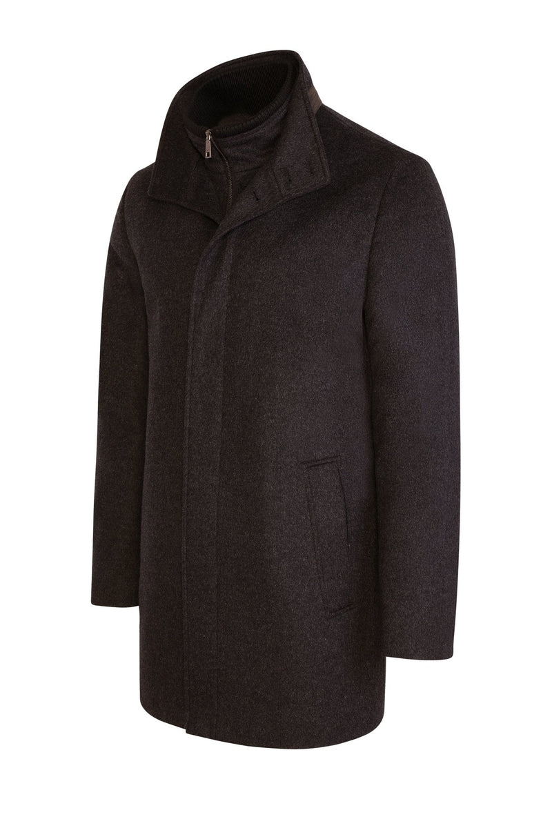 Charcoal Mont-Royal Versatile Cashmere Wool Overcoat - Cardinal of Canada-US