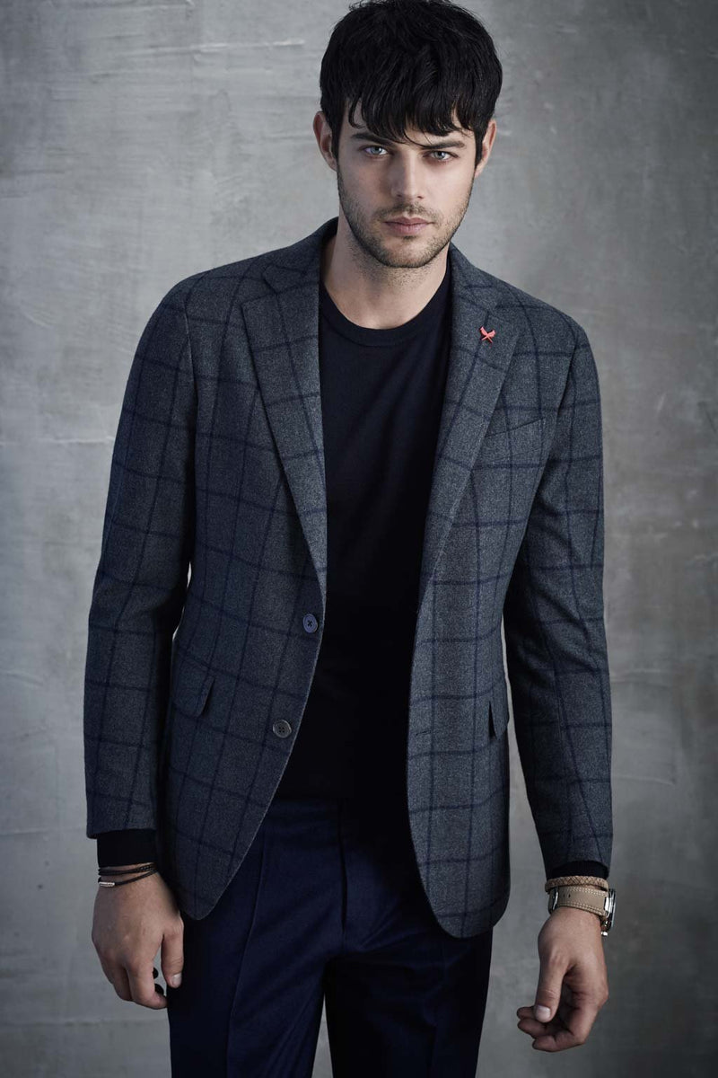 Charcoal-Navy Augustus Sports Coat - Cardinal of Canada-US