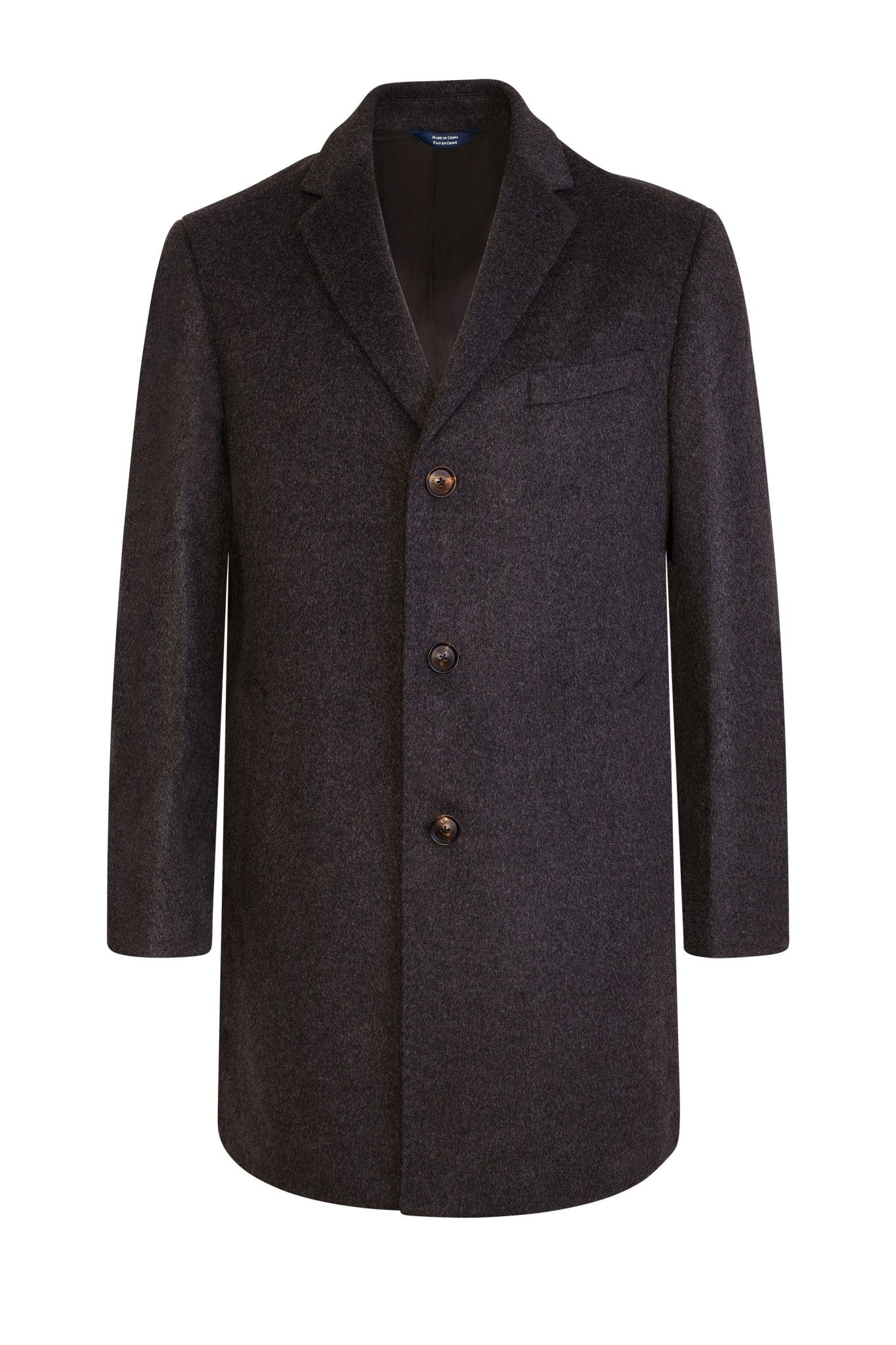 Charcoal Saint-Paul Cashmere Wool Heritage Overcoat - Cardinal of Canada-US