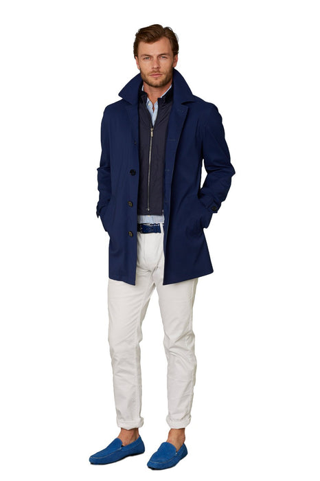 Dark Blue Kinsley Classic Wool Raincoat - Cardinal of Canada-US