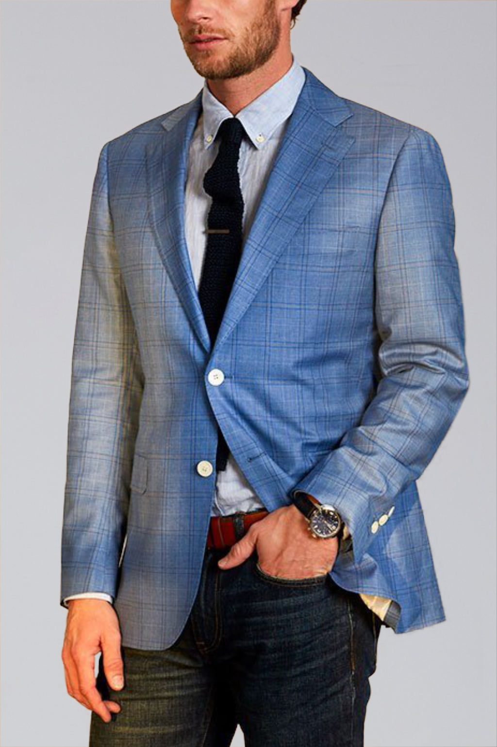 Dylan Sartorial Sport Coat in Sky Blue - Cardinal of Canada-US
