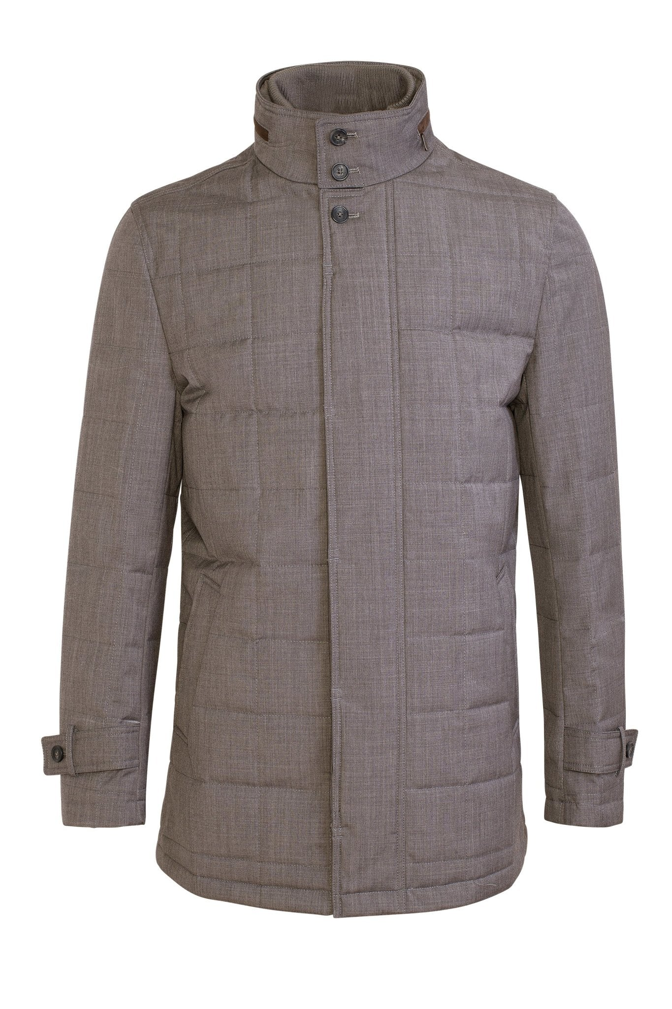 Gray Belmont Technical Wool Coat - Cardinal of Canada-US