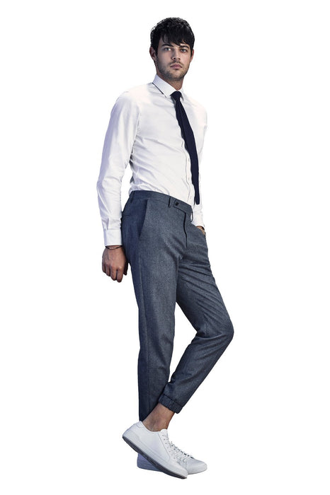 Gray James Jogger Wool Dress Pant - Cardinal of Canada-US