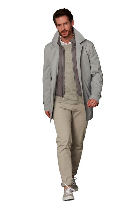 Gray Kinsley Classic Wool Raincoat - Cardinal of Canada-US