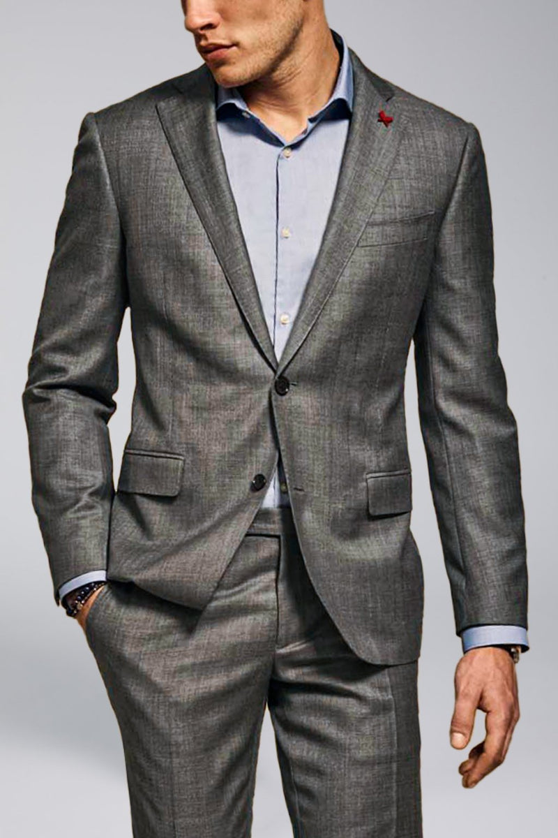 Gray Westbury Contemporary Tailored Wool Suit - Suits - Cardinal of Canada-US-Gray Westbury Contemporary Tailored Wool Suit