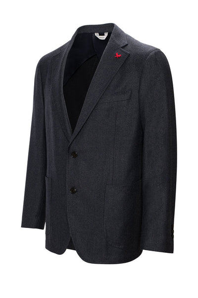 Grey-Blue Anderson Contemporary Fit Wool Sport Coat - Cardinal of Canada-US