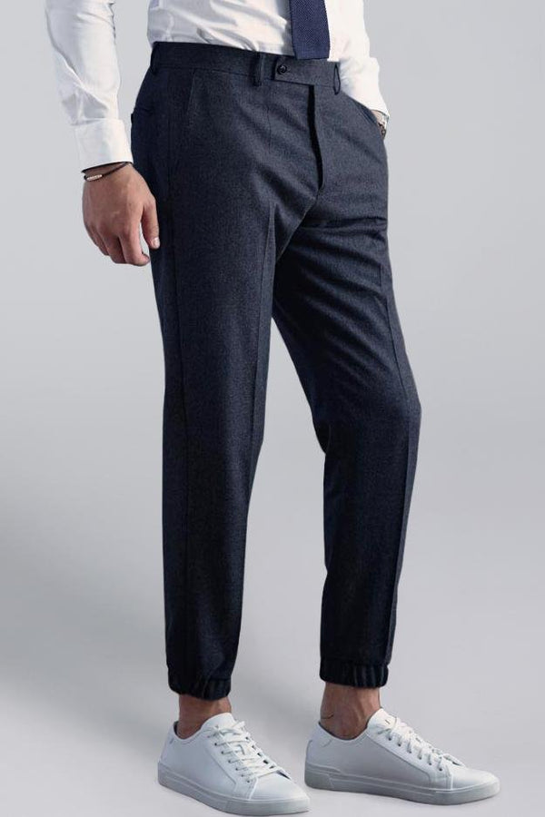 James Flannel Jogger – Charcoal - Dress pants - Cardinal of Canada-US-James Flannel Jogger – Charcoal