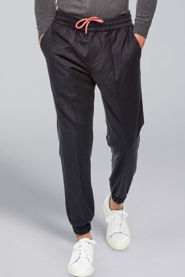 Jason Flannel Jogger – Grey-Blue - Trouser - Cardinal of Canada-US-Jason Flannel Jogger – Grey-Blue