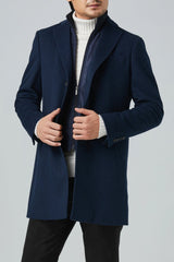 LeClaire Cashmere Wool Blend Overcoat - Navy Twill - Overcoats - Cardinal of Canada-US-LeClaire Cashmere Wool Blend Overcoat - Navy Twill