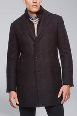 LeClaire Slim Fit Wool-Cashmere Overcoat - Navy - Overcoats - Cardinal of Canada-US-LeClaire Slim Fit Wool-Cashmere Overcoat - Navy