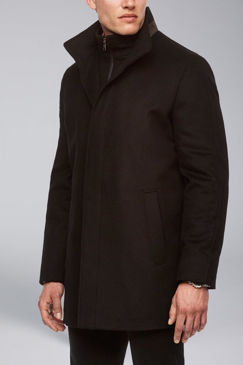 Mont Royal Cashmere-Wool Overcoat - Black - Outerwear - Cardinal of Canada-US-Mont Royal Cashmere-Wool Overcoat - Black