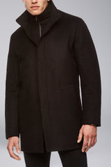 Mont Royal Cashmere-Wool Overcoat - Black