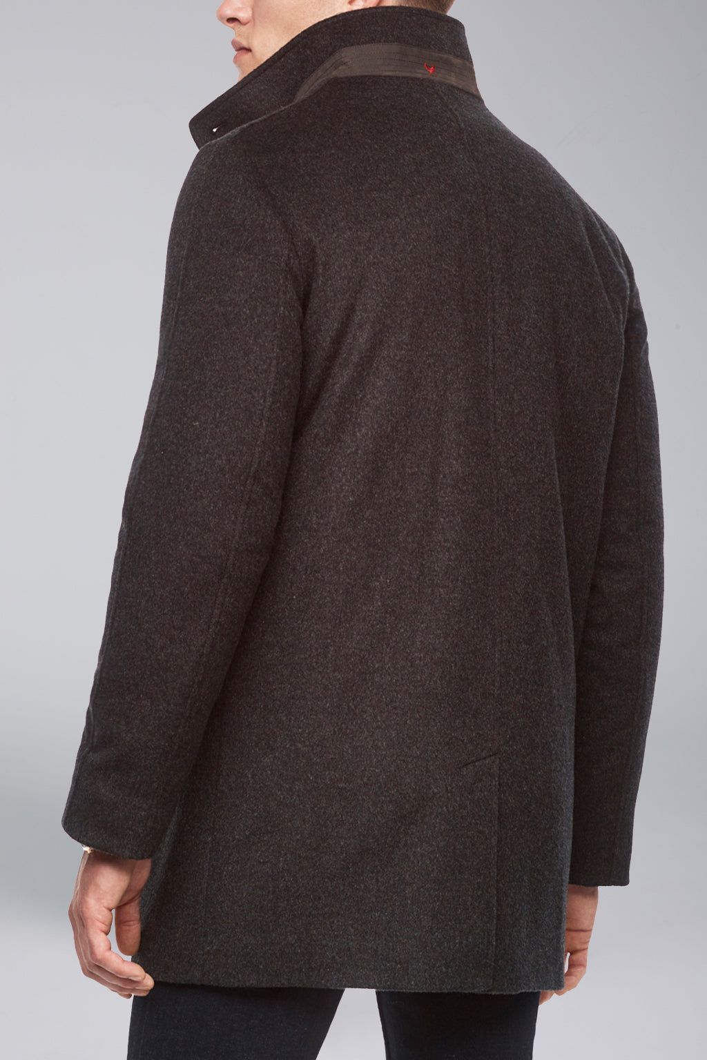 Charcoal Mont-Royal Versatile Cashmere Wool Overcoat