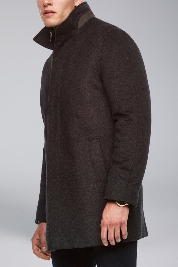 Mont Royal Cashmere-Wool Overcoat - Charcoal