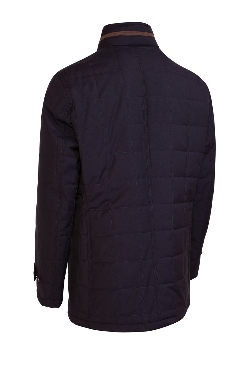 Navy Belmont Technical Wool Coat - Cardinal of Canada-US