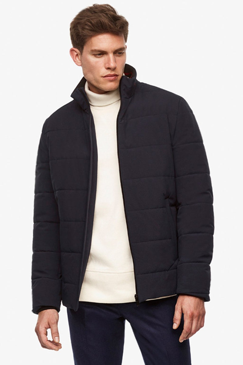 Navy Brogan Quilted Bomber - Bombers - Cardinal of Canada-US