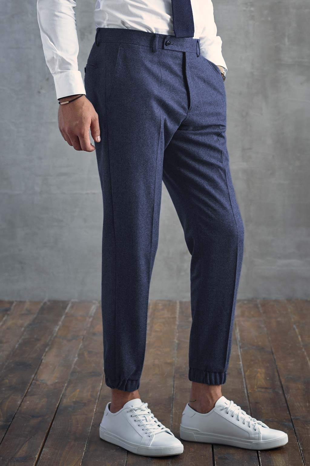 Navy James Jogger Wool Dress Pant - Cardinal of Canada-US