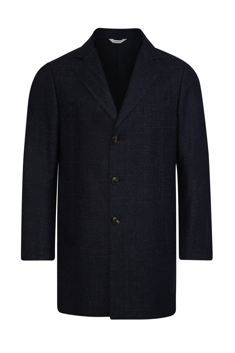 Navy LeClaire Slim Fit Wool-Cashmere Overcoat - Cardinal of Canada-US