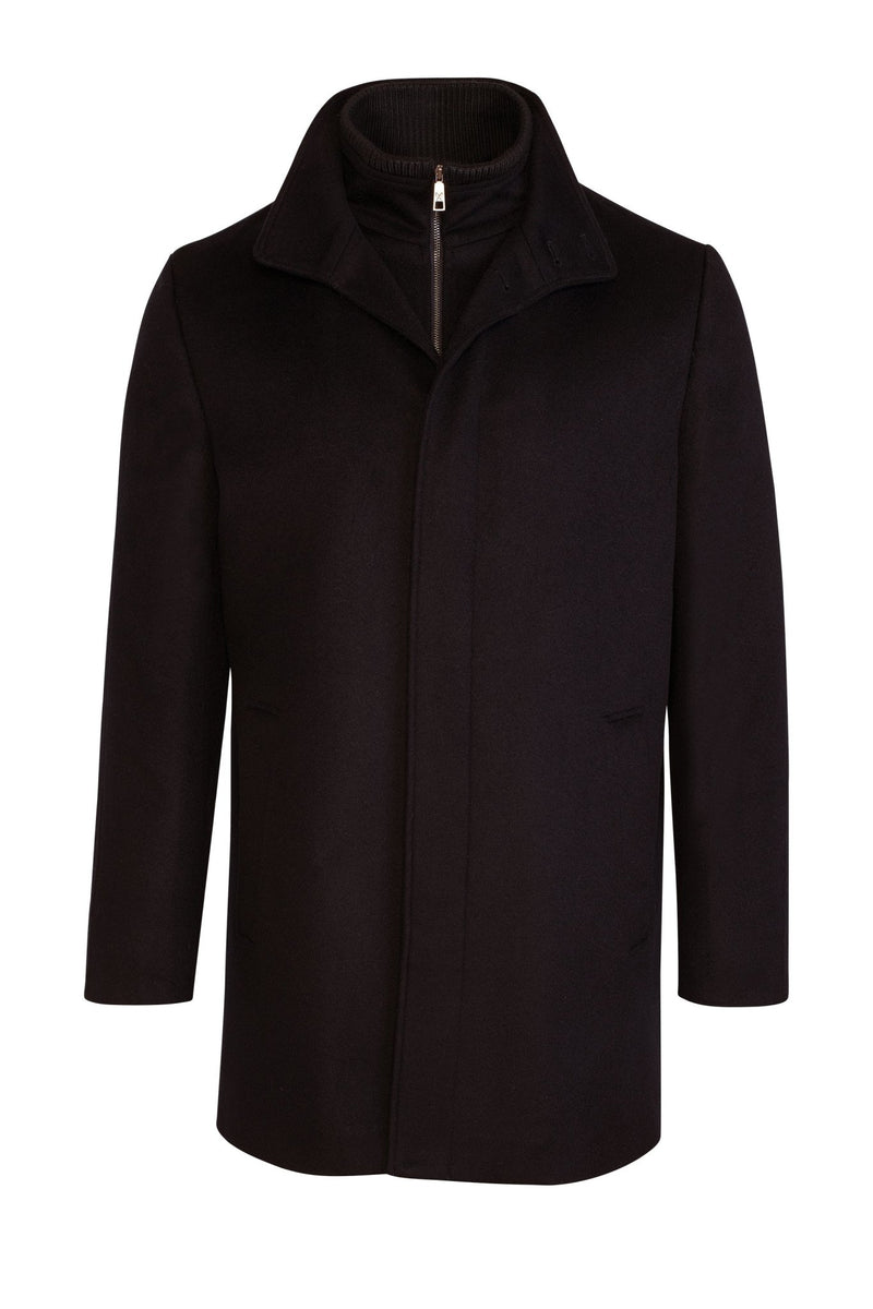 Navy Mont-Royal Versatile Cashmere Wool Overcoat - Cardinal of Canada-US