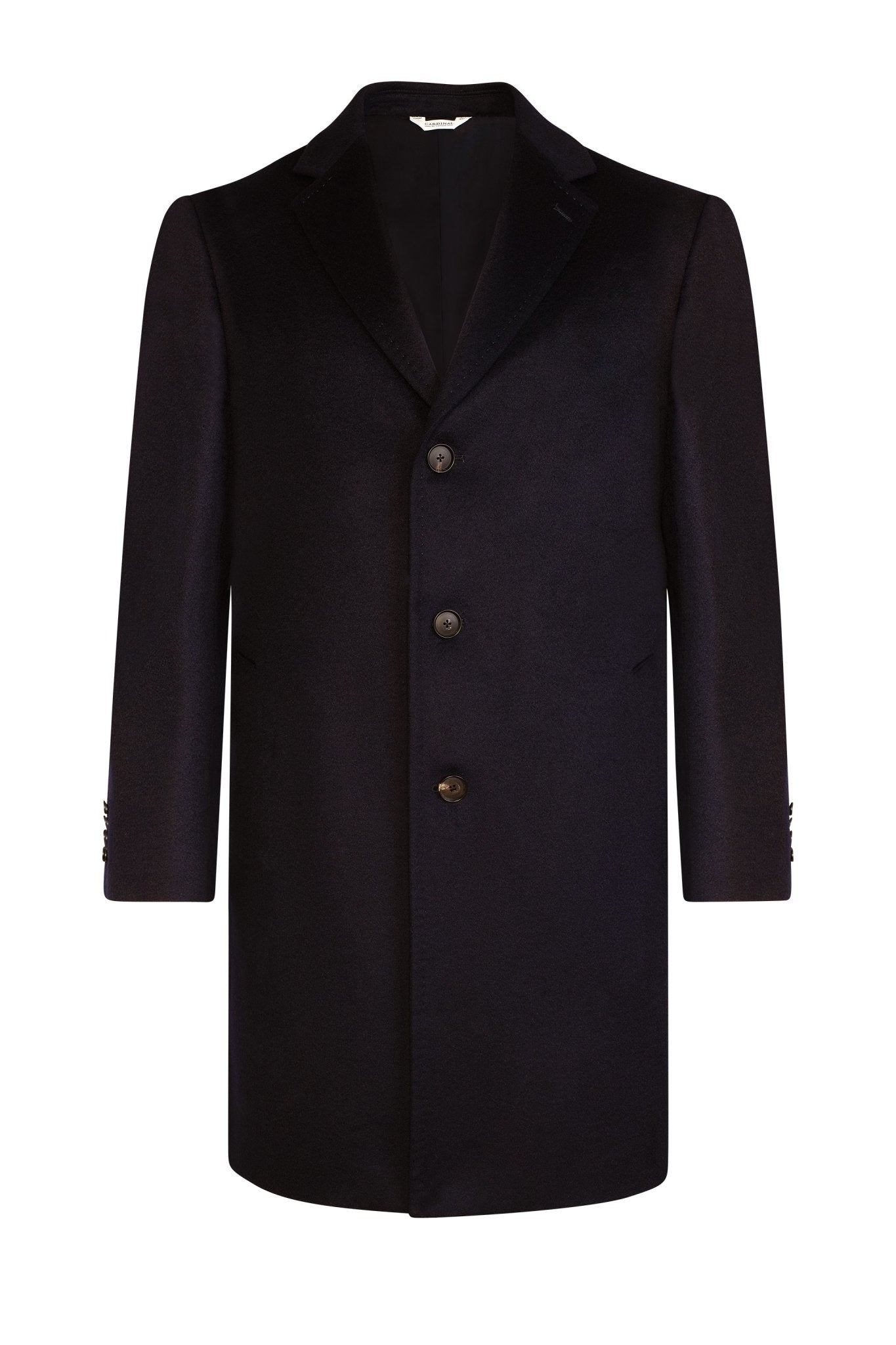 Navy Saint-Pierre Pure Cashmere Overcoat - Cardinal of Canada-US