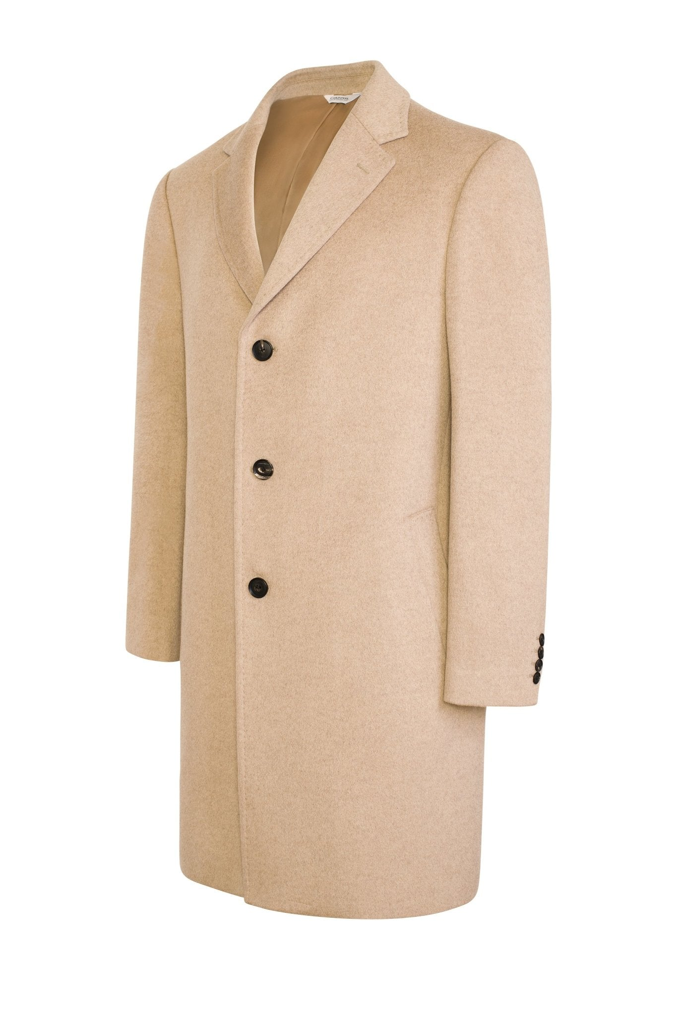 Oatmeal Saint-Pierre Pure Cashmere Overcoat - Cardinal of Canada-US