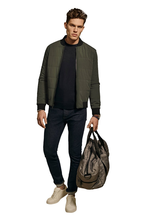 Olive Banks Slim Fit Quilted Bomber Jacket - Cardinal of Canada-US