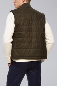 Olive Ronan Wool Flannel Quilted Vest