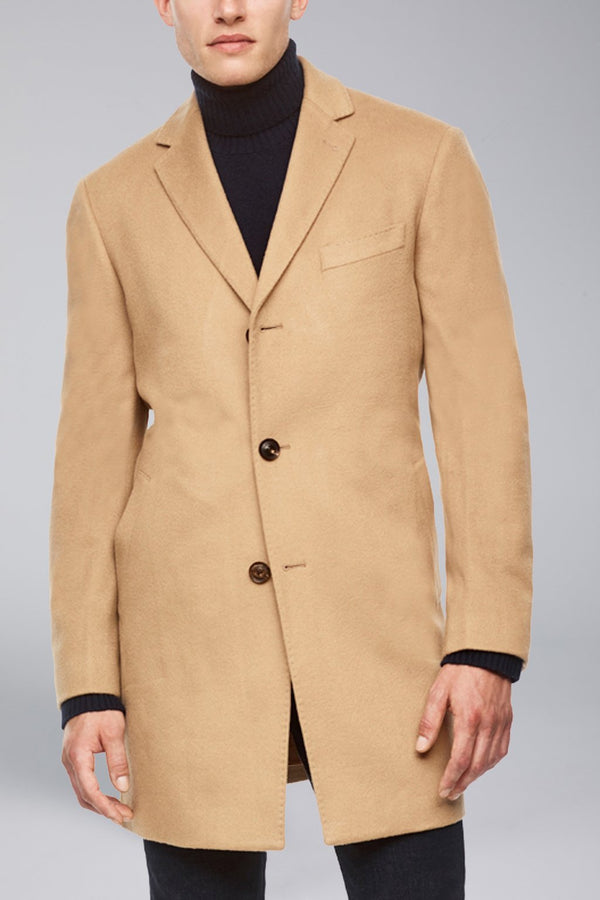 Saint-Paul Cashmere Wool Heritage Overcoat - Camel - Overcoats - Cardinal of Canada-US-Saint-Paul Cashmere Wool Heritage Overcoat - Camel