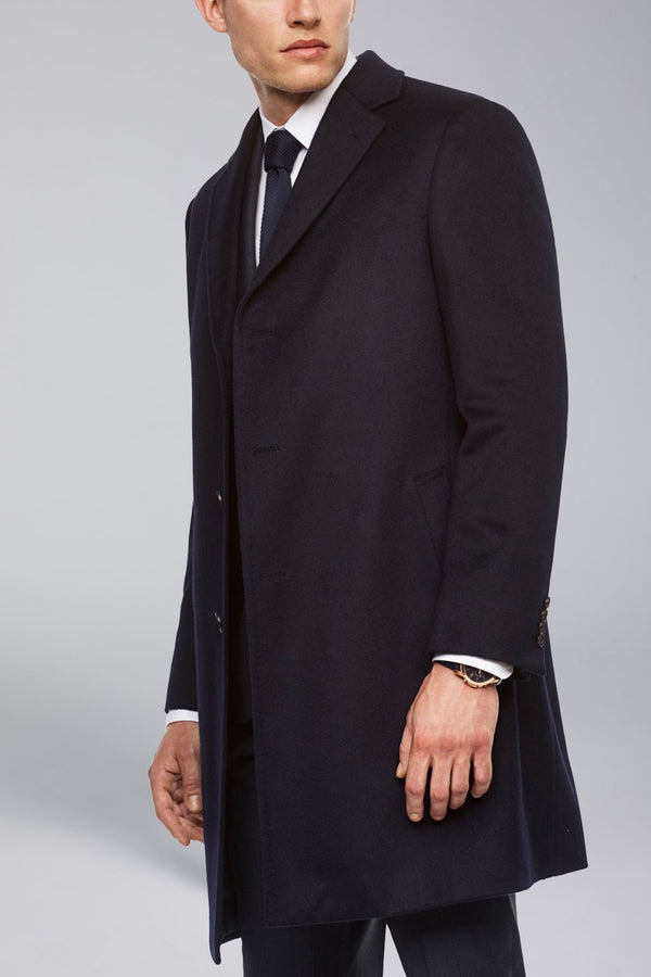 Saint-Pierre Pure Cashmere Overcoat -Navy - Overcoats - Cardinal of Canada-US-Saint-Pierre Pure Cashmere Overcoat -Navy