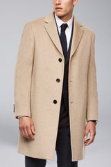 Saint-Pierre Pure Cashmere Overcoat - Oatmeal - Overcoats - Cardinal of Canada-US-Saint-Pierre Pure Cashmere Overcoat - Oatmeal