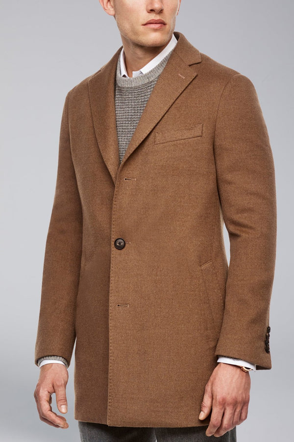 Seth Wool Overcoat - Tobacco-Blue - Overcoats - Cardinal of Canada-US-Seth Wool Overcoat - Tobacco-Blue