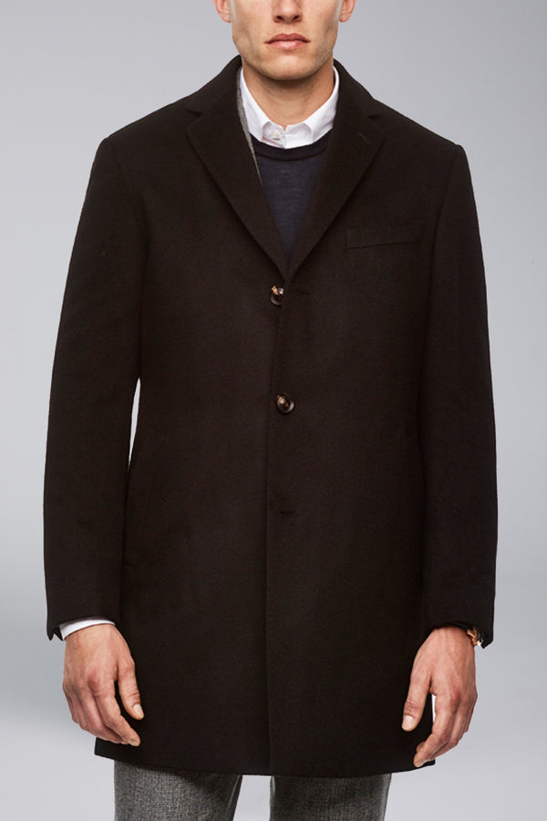 Saint-Paul Cashmere Wool Heritage Topcoat – Black
