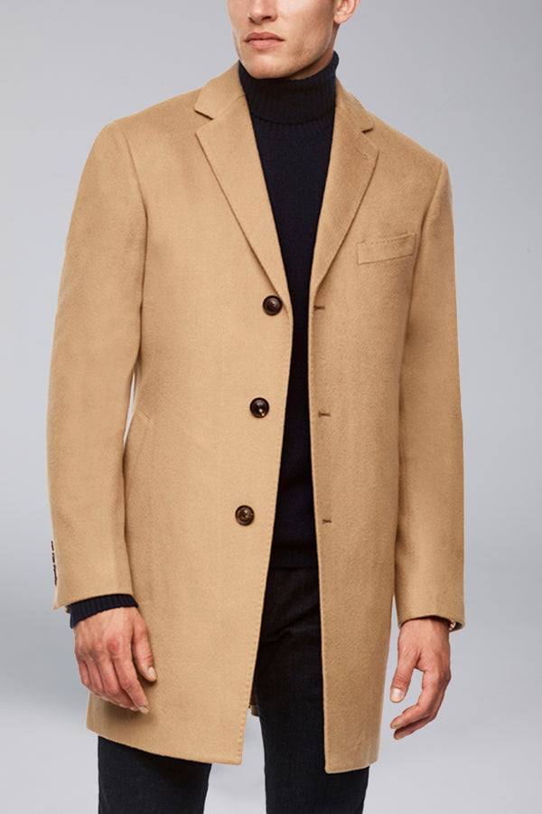 Saint-Paul Cashmere Wool Heritage Overcoat - Camel