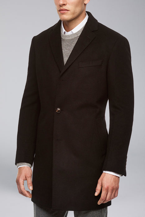 Navy Saint-Paul Cashmere Wool Heritage Overcoat