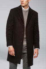 Saint-Pierre Pure Cashmere Overcoat - Black