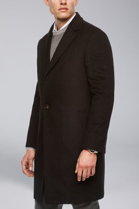 Black Saint-Pierre Pure Cashmere Overcoat