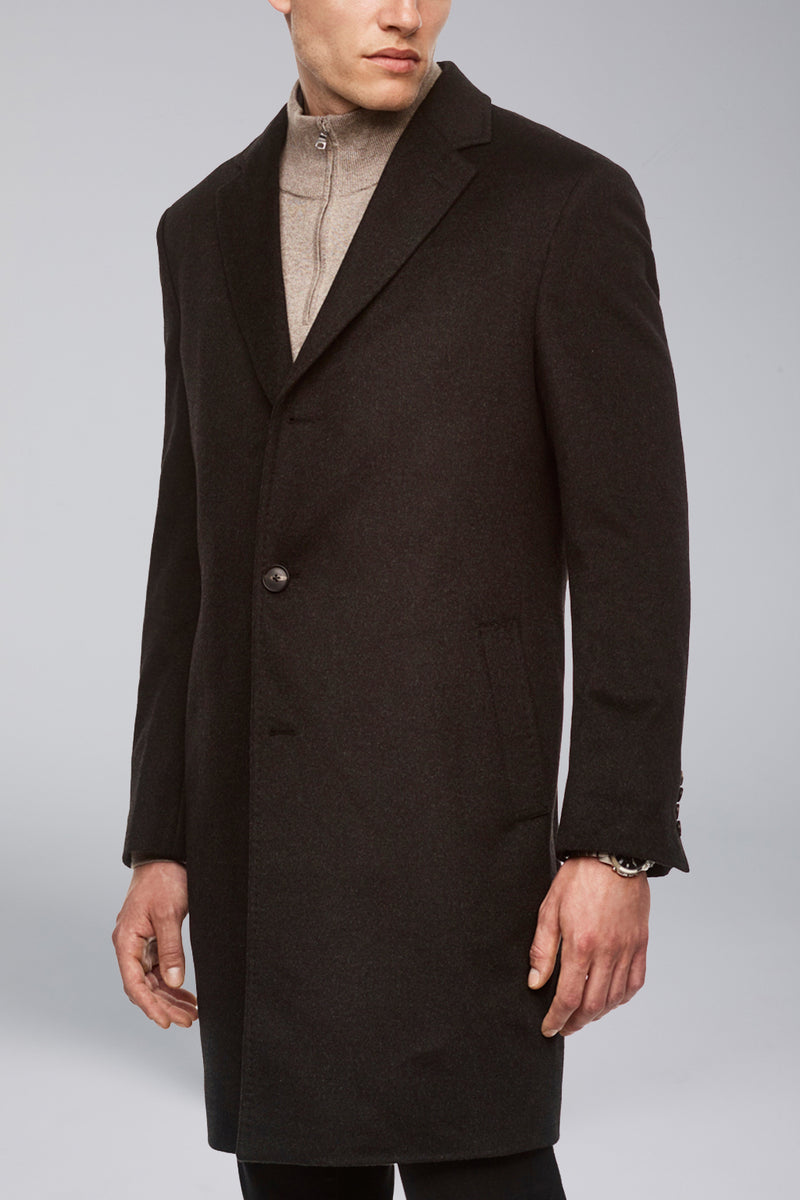 Saint-Pierre Pure Cashmere Overcoat - Charcoal