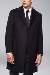 Saint-Pierre Pure Cashmere Overcoat -Navy