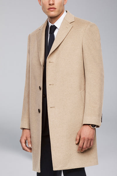 Oatmeal Saint-Pierre Pure Cashmere Overcoat