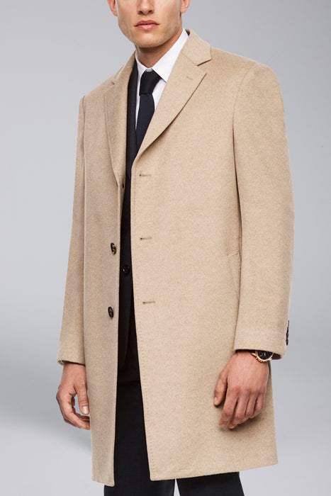 Saint-Pierre Pure Cashmere Overcoat - Oatmeal