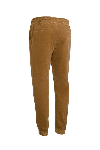 Tan Jason Relaxed Fit Corduroy Stretch Joggers - Cardinal of Canada-US