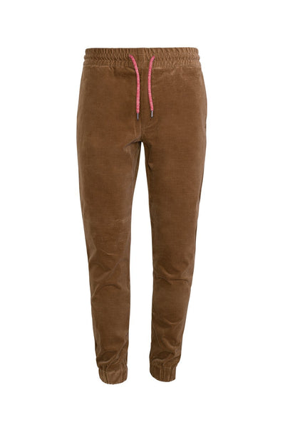 Tobacco Jason Relaxed Fit Corduroy Stretch Joggers - Cardinal of Canada-US