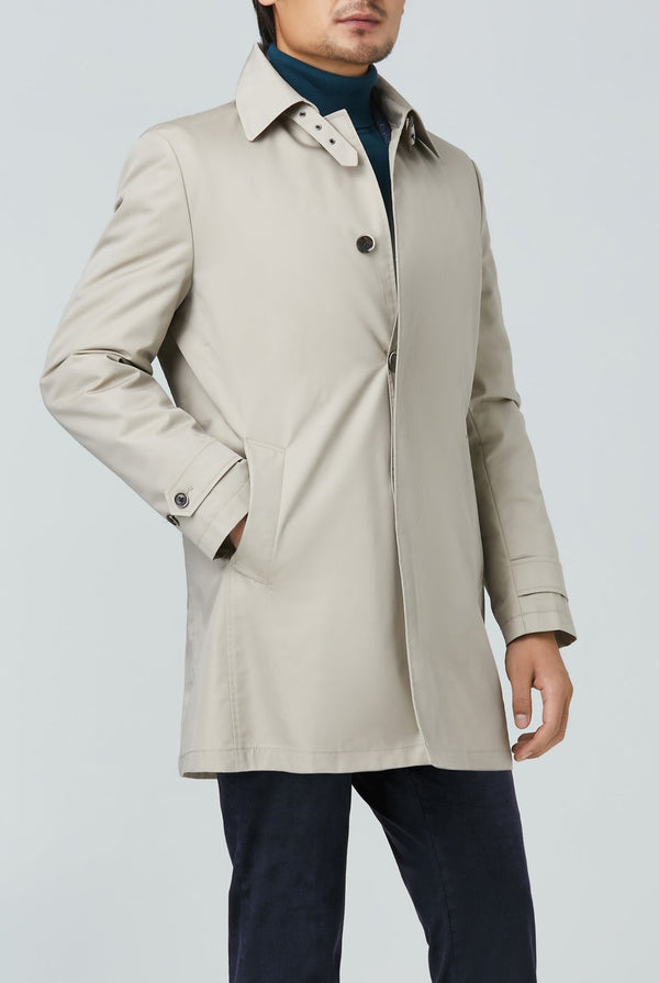 Vance Polyester Cotton Raincoat - Beige - Raincoats - Cardinal of Canada-US-Vance Polyester Cotton Raincoat - Beige