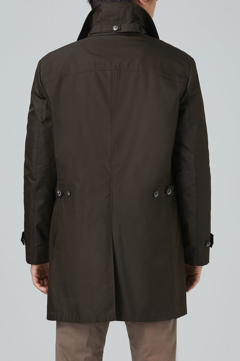 Vance Polyester Cotton Raincoat - Coffee - Raincoats - Cardinal of Canada-US-Vance Polyester Cotton Raincoat - Coffee