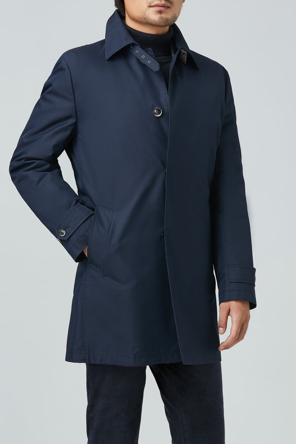 Vance Polyester Cotton Raincoat - Navy - Raincoats - Cardinal of Canada-US-Vance Polyester Cotton Raincoat - Navy