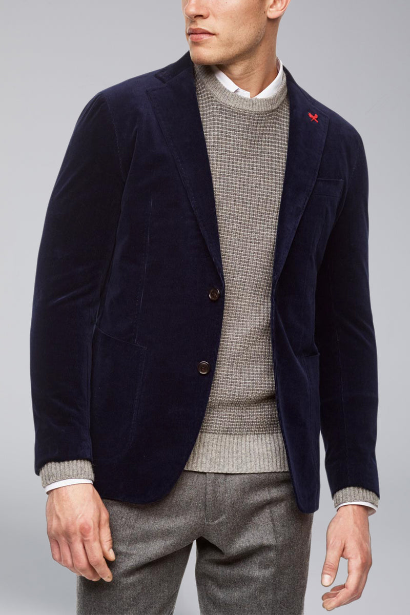 Anderson Contemporary Fit Cord Sport Coat - Blue