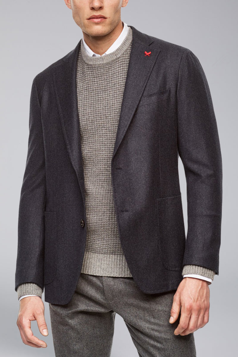 Anderson Contemporary Fit Wool Sport Coat - Grey Blue